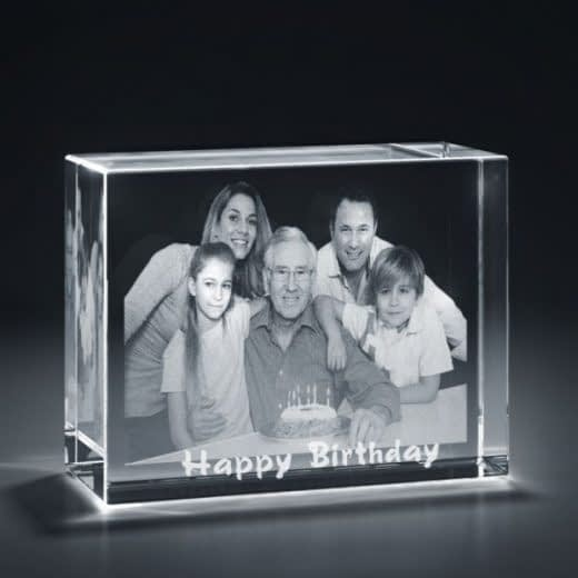 3DCrystal Rectangle Horizontal Birthday