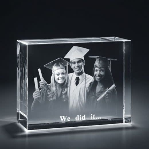 3DCrystal rectangle horizontal graduation
