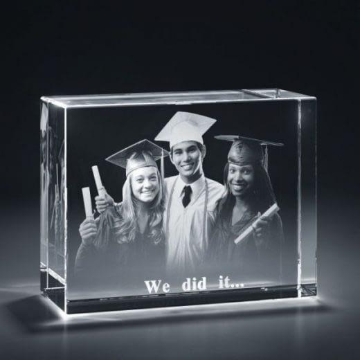 3DCrystal rectangle horizontal graduation