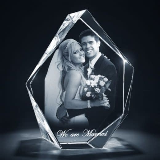 3DCrystal Prestige Wedding Gift