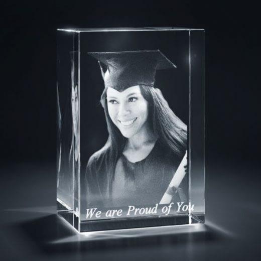 3DCrystal Rectangle Vertical Graduation