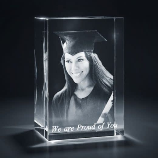 3DCrystal Rectangle Vertical Graduation