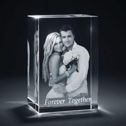 3DCrystal Rectangle Vertical Wedding