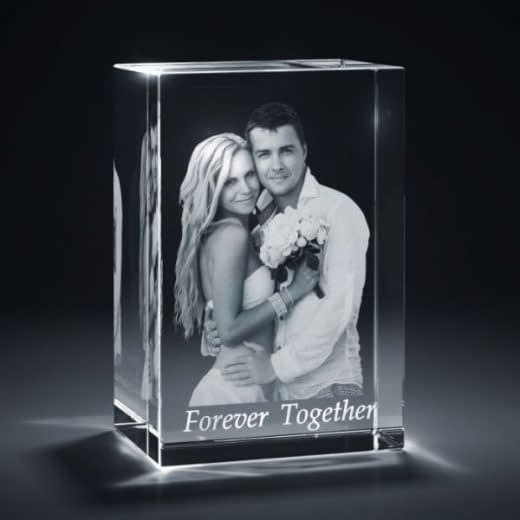3DCrystal Rectangle Vertical Wedding