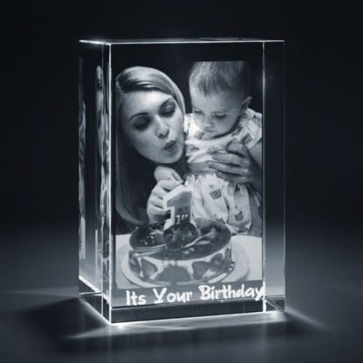 3DCrystal Rectangle Vertical Birthday