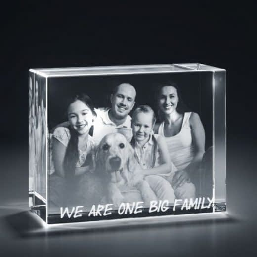 3DCrystal rectangle horizontal family