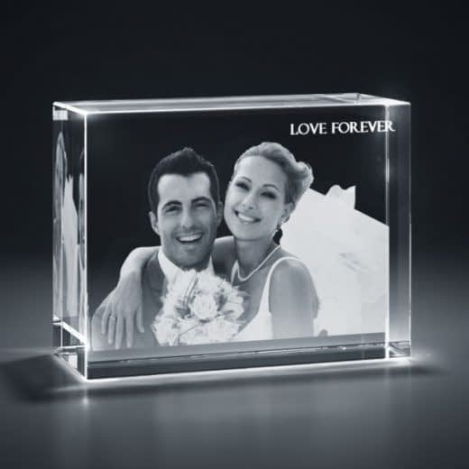 3DCrystal Rectangle Horizontal Wedding