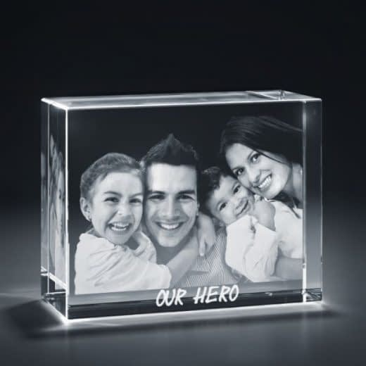 3DCrystal Rectangle Horizontal Fathersday