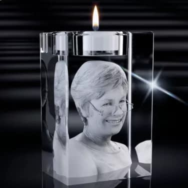 3D Crystal Candle