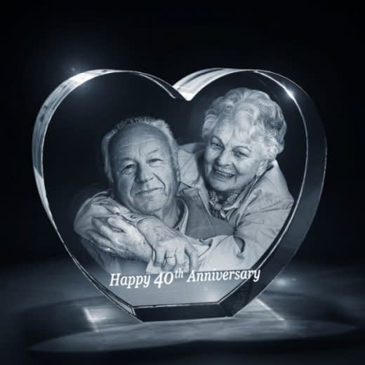 3DCrystal Heart Anniversary Gift