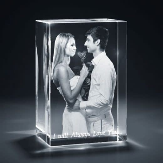 3DCrystal Rectangle Vertical Anniversary