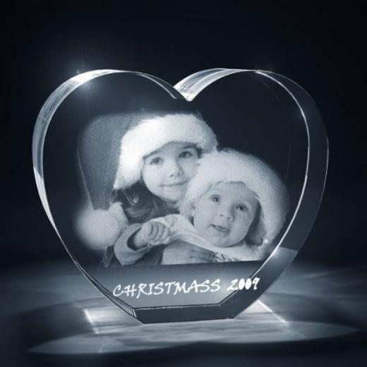 3D Crystal Heart Holiday