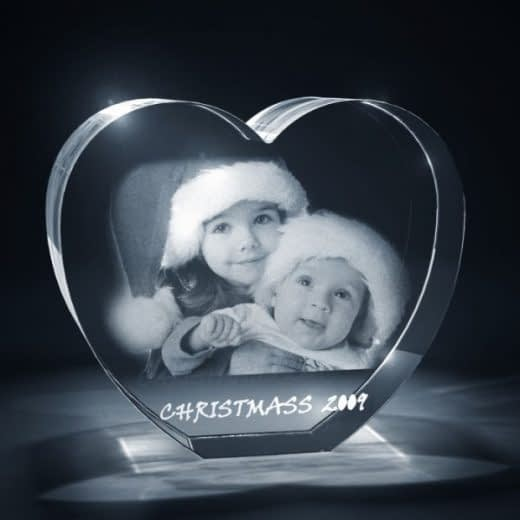 3D Crystal Heart Holiday
