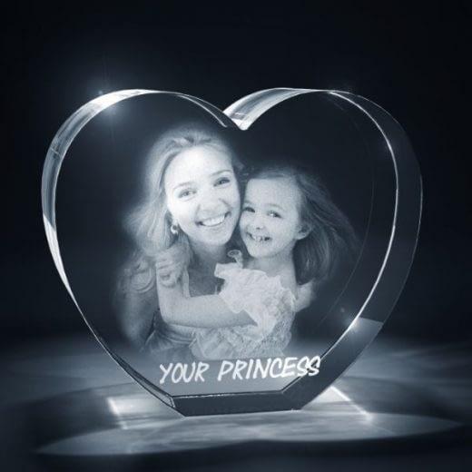 Heart 3D Crystal Family